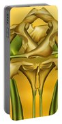 Dance Of The Yellow Calla Lilies II Portable Battery Charger