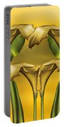 Dance Of The Yellow Calla Lilies Portable Battery Charger