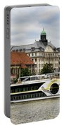 Danube Riverboat In Budapest Portable Battery Charger
