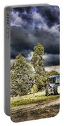 Dark Clouds Over The Farm Portable Battery Charger