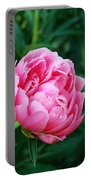 Dark Pink Peony Flower Series 2 Portable Battery Charger