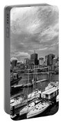 Darling Harbor- Black And White Portable Battery Charger