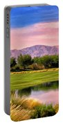 Dawn On The Golf Course Portable Battery Charger