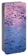 Dawn Sky Reflected In Pool Portable Battery Charger