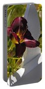 Day Lily And White Fence II Portable Battery Charger