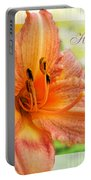 Daylily Greeting Card Mothers Day Portable Battery Charger