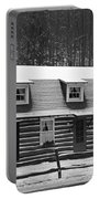 Days Of Yore Log Cabin Portable Battery Charger