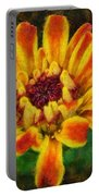 Dazzling Zinnia Portable Battery Charger
