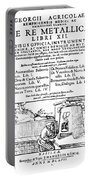 De Re Metallica, Title Page, 16th Portable Battery Charger by Science Source