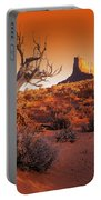 Dead Tree In Desert Monument Valley Portable Battery Charger