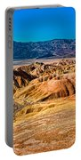 Death Valley From Zabriskie Point Portable Battery Charger