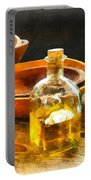Decanter Of Oil Portable Battery Charger by Susan Savad