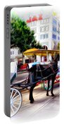 Decatur Street At Jackson Square Portable Battery Charger by Bill Cannon