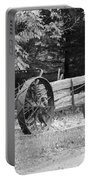 Decaying Wagon Black And White Portable Battery Charger