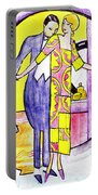 Deco Couple With Vase Portable Battery Charger