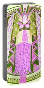Deco Ladies Frostwork And Iris Portable Battery Charger