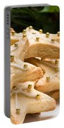 Decorated Christmas Cookies In Festive Setting Portable Battery Charger