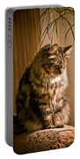 Deep In Kitty Thought Portable Battery Charger