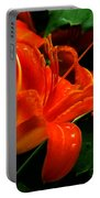 Deep Orange Day Lily Portable Battery Charger
