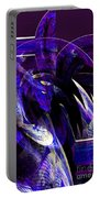 Deep Purple Abstract Portable Battery Charger