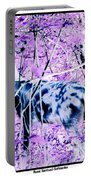Deer In The Woods Inverted Negative Image Portable Battery Charger