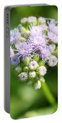 Delicate Purple Flower Portable Battery Charger