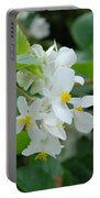 Delicate White Flower Portable Battery Charger