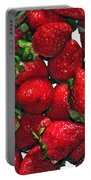 Deliciously Sweet Strawberries Portable Battery Charger by Kaye Menner