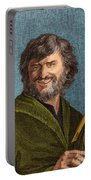 Democritus, Greek Polymath Portable Battery Charger