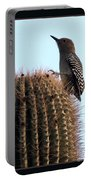 Desert Bird Atop Saguaro Portable Battery Charger