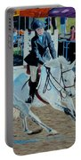 Determination - Horse And Rider - Horseshow Painting Portable Battery Charger