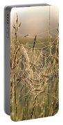 Dew And Spider Webs Portable Battery Charger
