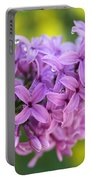 Dewdrops On Lilacs Portable Battery Charger