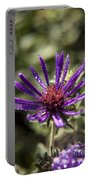 Dewy Purple Fleabane Portable Battery Charger
