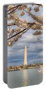 Digital Liquid - Cherry Blossoms Washington Dc 4 Portable Battery Charger
