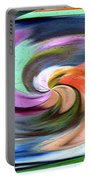 Digital Swirl Of Color 2001 Portable Battery Charger