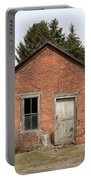 Dilapidated Old Brick Building Portable Battery Charger