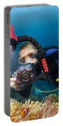 Diver And Anenome Fish Portable Battery Charger