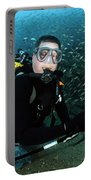 Diver Collects Invasive Lionfish Portable Battery Charger