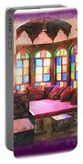 Do-00520 Emir Bachir Palace Interior-violet Bkgd Portable Battery Charger