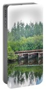 Dock On The North Fork River Portable Battery Charger