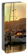 Docked Yachts Portable Battery Charger by Carlos Caetano