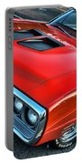 Dodge Super Bee In Red Portable Battery Charger