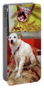 Dog At Carnival Portable Battery Charger