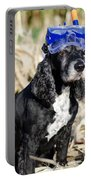 Dog With Diving Mask Portable Battery Charger
