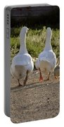 Domestic Geese With Goslings Portable Battery Charger