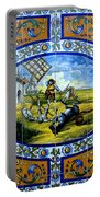 Don Quixote In Spanish Tile Portable Battery Charger
