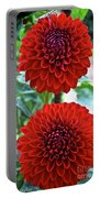 Double Decked Dahlia Portable Battery Charger