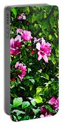 Double Rose Of Sharon Portable Battery Charger