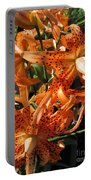Double Tiger Lily Named Flora Pleno Portable Battery Charger